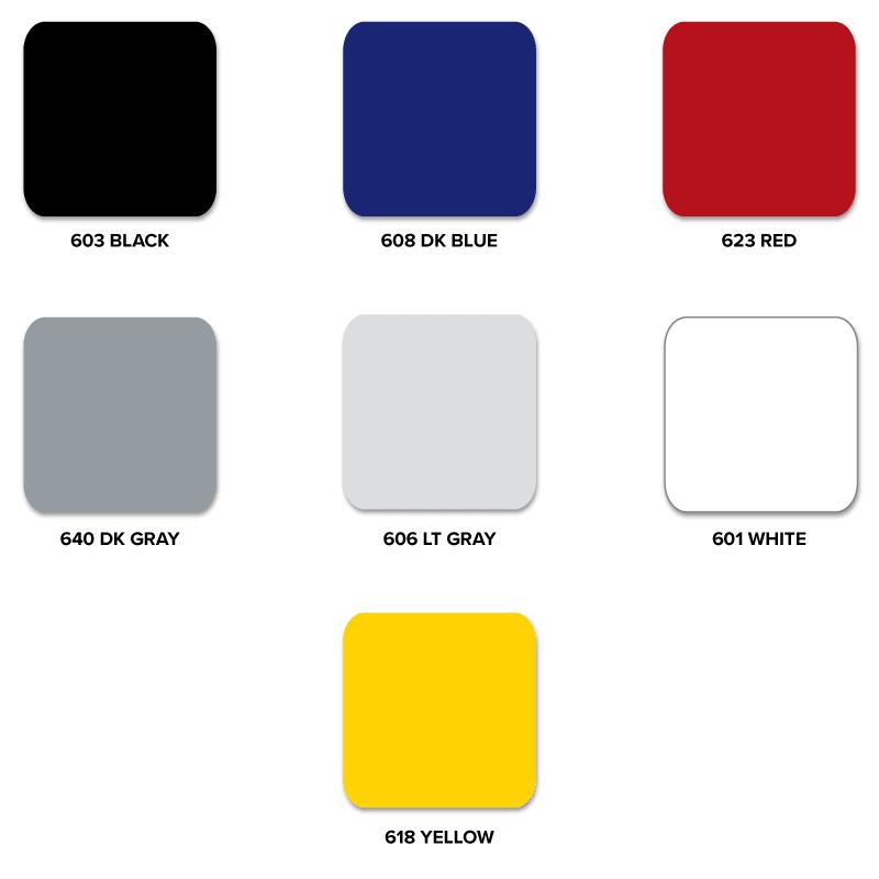 PVC Signboard Colors