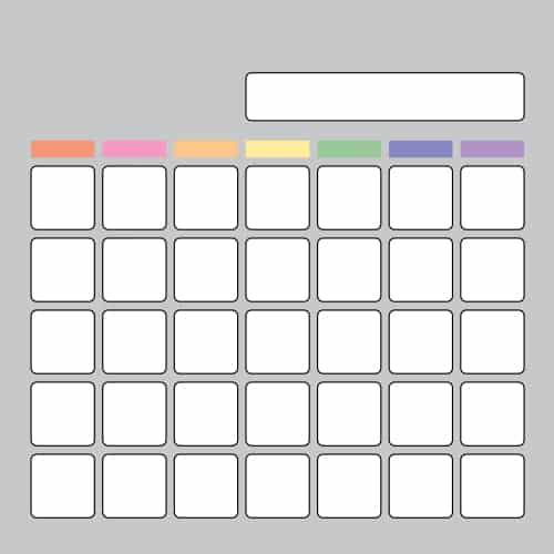 Gray Calendar Visual Board