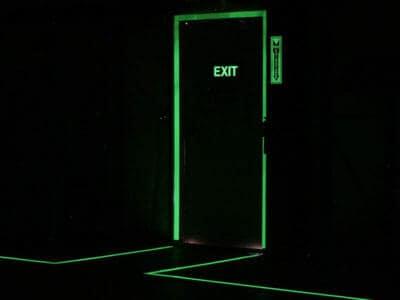 Glow In the Dark Floor Signs