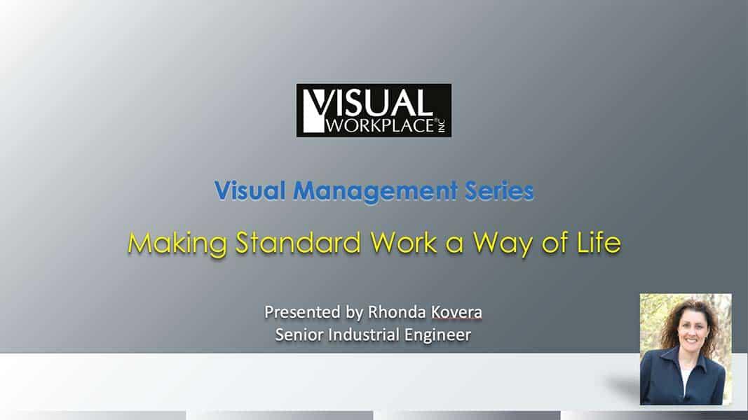 Webinar - Making Standard Work a Way of Life