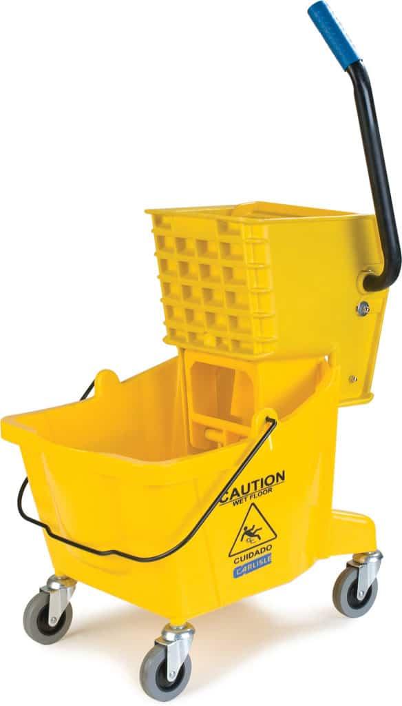Mop Bucket with Side-Press Wringer 26 QT