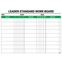 Leader Standard Work Board