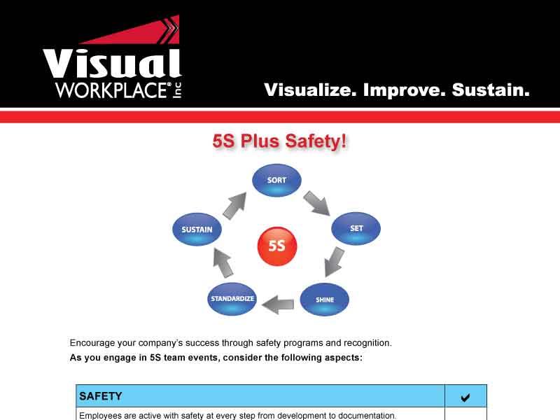 5S Plus Safety Checklist 6S