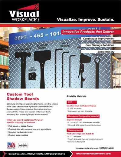 Custom Tool Shadow Boards Product Flyer