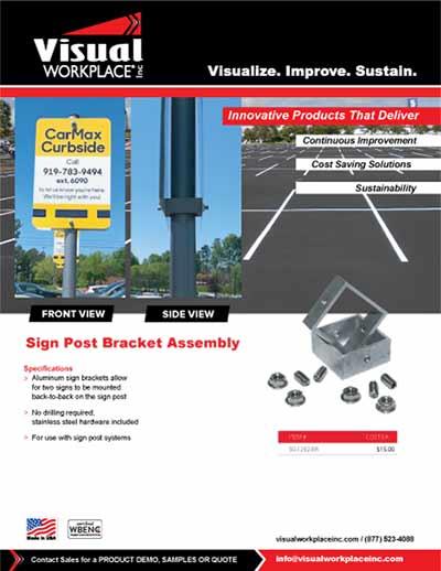 Sign Post Bracket Assembly