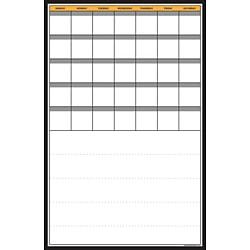 Calendar+Notes Vertical Dry Erase Board and Overlay