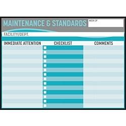 Maintenance & Standards Dry Erase Board & Overlay