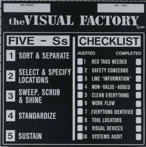 Custom 5S & Lean Signs
