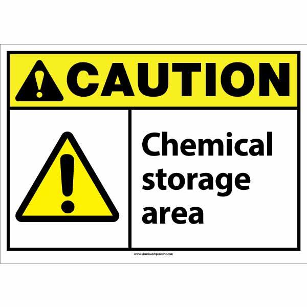 ANSI Caution Chemical Storage Sign