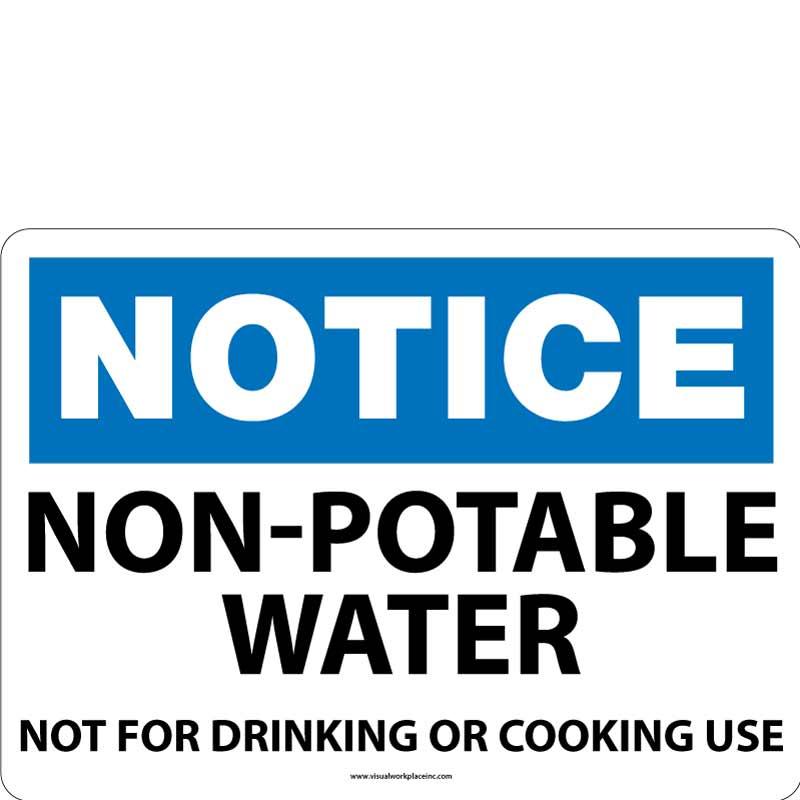 Notice Not Potable Water