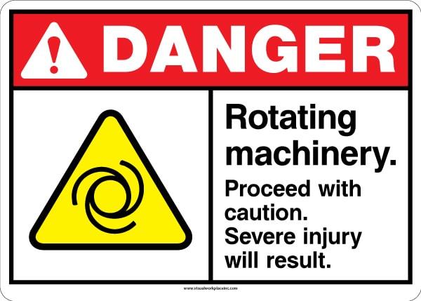 ANSI Danger Rotating Machinery