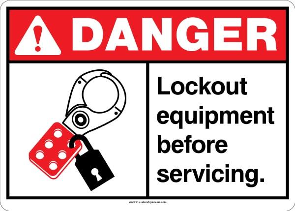 ANSI Lockout Equipment Sign