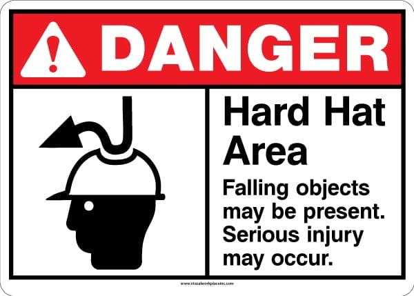 ANSI Danger Hard Hat Sign