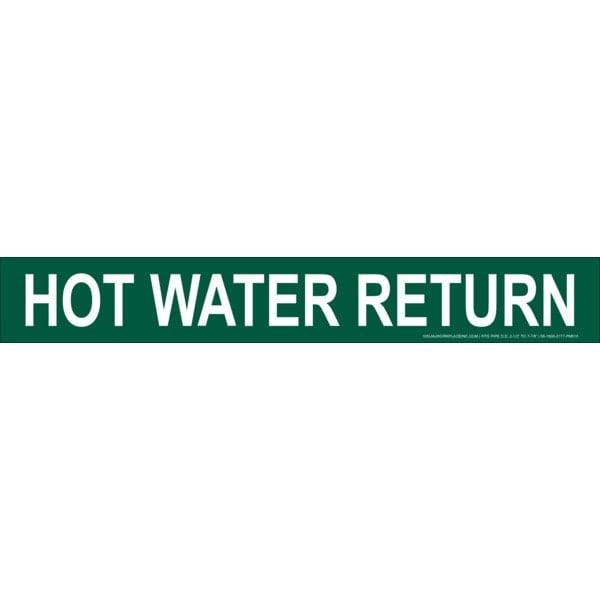 Green Hot Water Return Stick-On